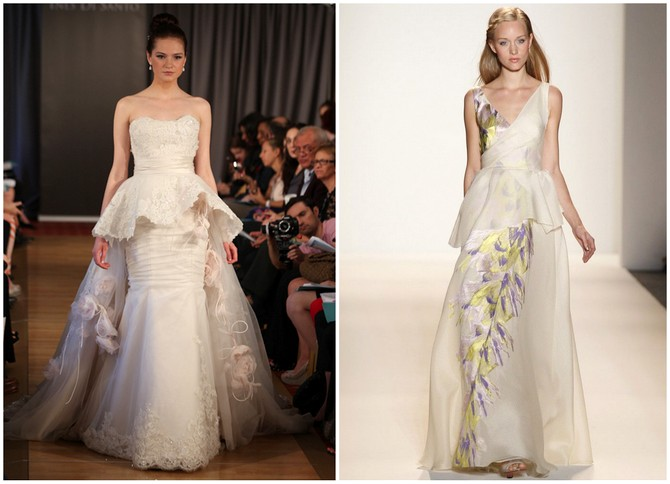 Pretty Peplums - Wedding Dress Trends 2012