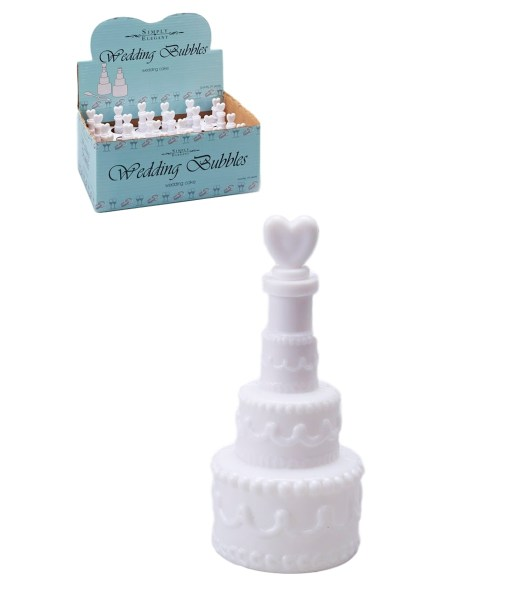 Cake Shaped Wedding Bubbles
