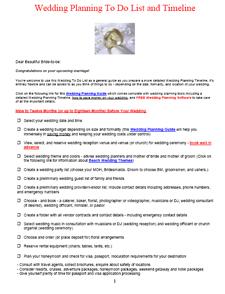 Wedding To Do List and Wedding Planning Checklist