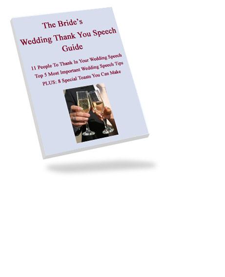 Bride Thank You Wedding Speech Tips