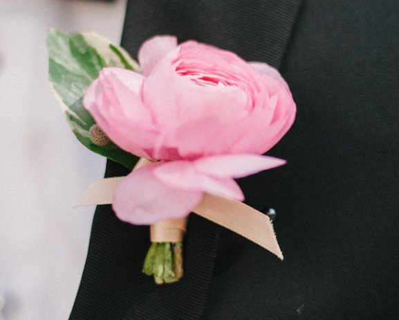 Wedding Pink Boutonniere Ideas