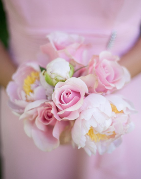 light pink  bridesmaids bouquet