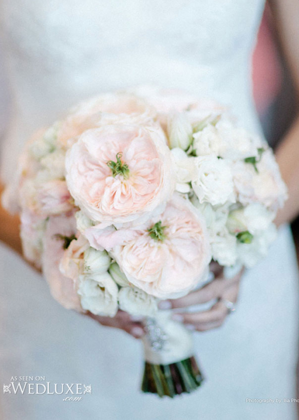 Luxury white and blush pink Bridal bouquet
