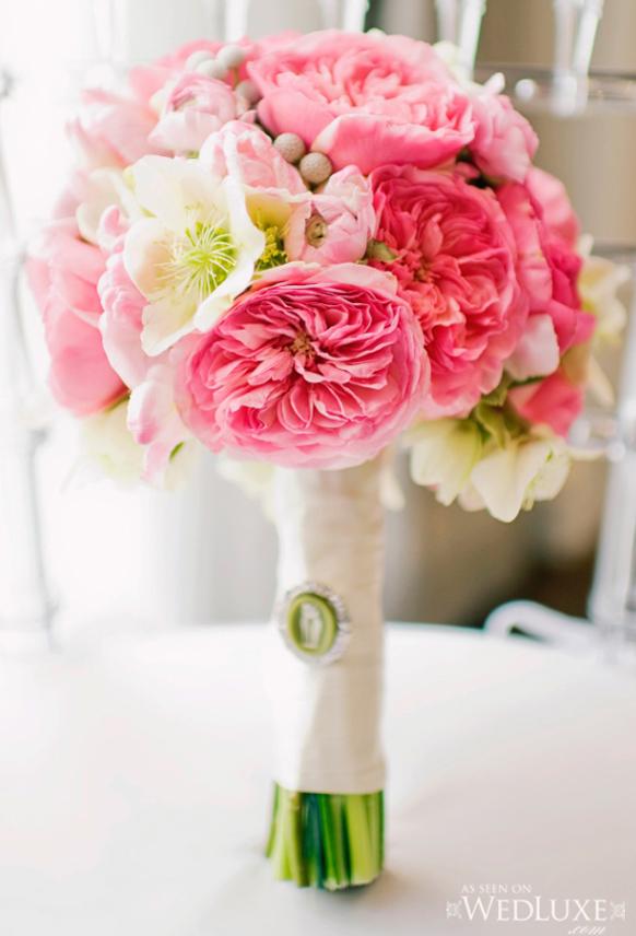 luxury hot pink wedding boquet
