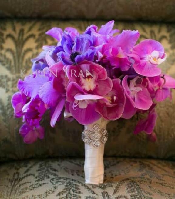 luxury purple-hot pink wedding bouquet
