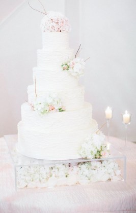 Elegant Wedding Cake Tables Archives   Weddings Romantique Elegant Wedding cake table with flower box
