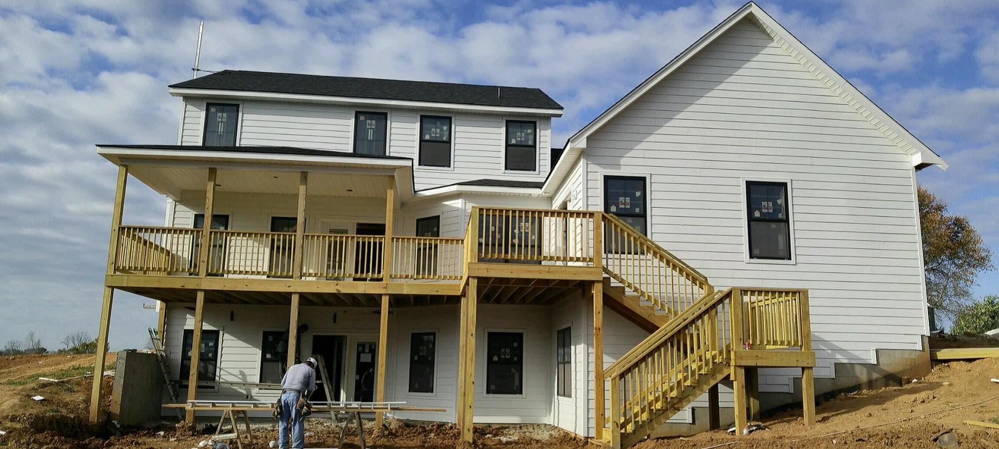 Custom House with custom back deck