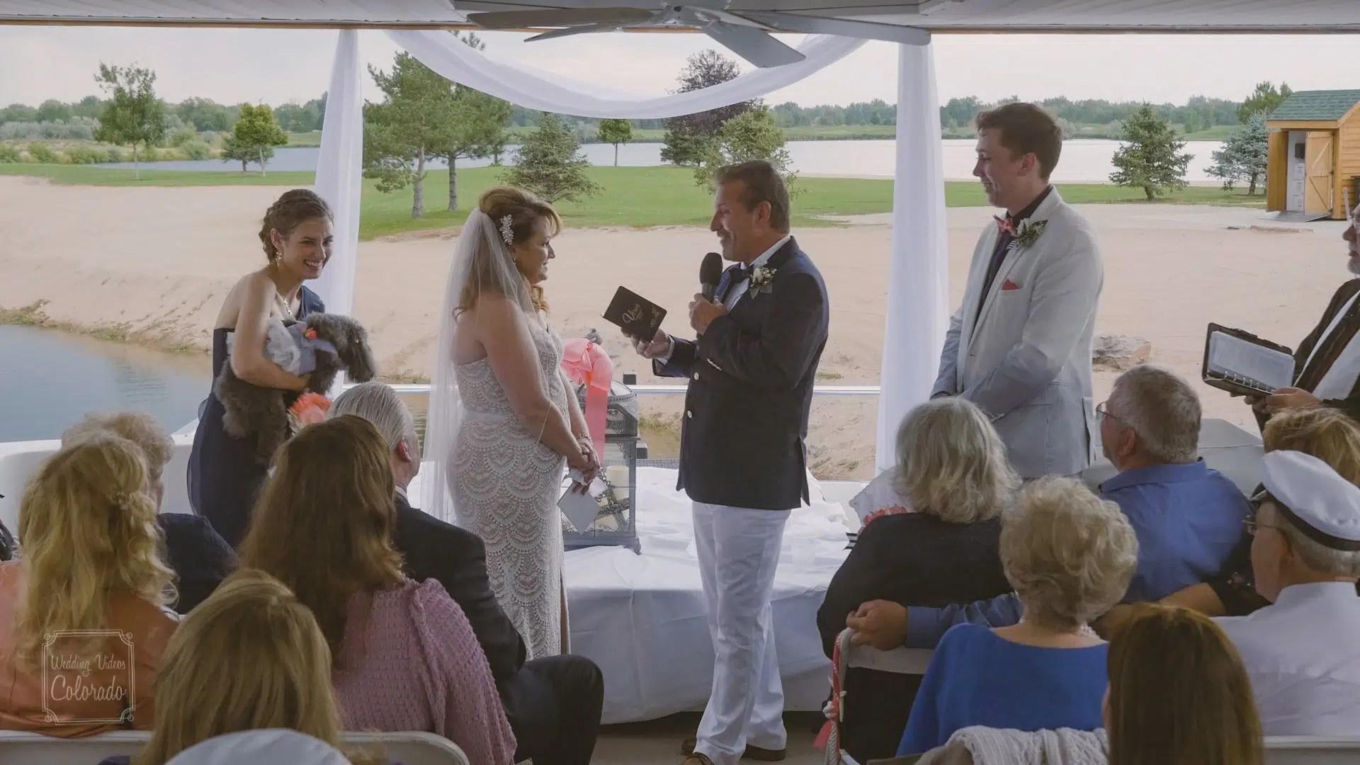 clint deb windsor wedding on a boat