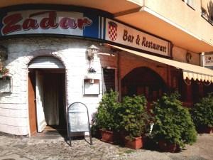 """Das """"Zadar"""" in einem Ecklokal"""