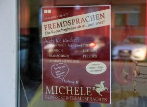 Wer möchte, kann im Michele nicht nur essen. Auch Fremdsprach-Kurse stehen auf dem Programm.