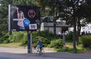 Werbetafel Werbung Dankeskirche Weddingplatz