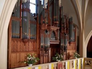 Die Hill-Orgel in der St. Afra-Kirche in der Graunstraße. Foto: Institut St. Philipp Neri Berlin