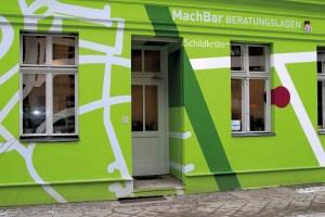 Der Beratungsladen MachBar in der Putbusser Straße 29. Foto: D. Hensel