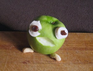 Ein Frosch, schnell gebastelt und lustig. Foto: Dominique Hensel