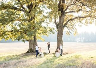 Теплая осень в кругу друзей: стилизованная фотосессия