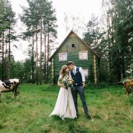 Ближе к природе: свадьба Иры и Саши