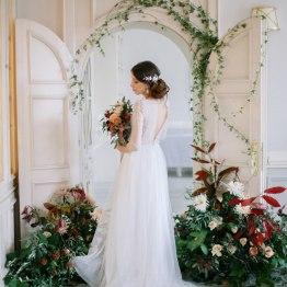 В холодном ноябре: элегантная свадьба в светлых тонах
