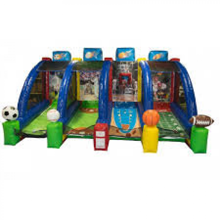 4 in 1 Sports Play Inflatable Game