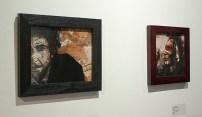 "Drew Gundlach, ""Dylan"" & ""Native"", pen, ink, watercolor, digital media"