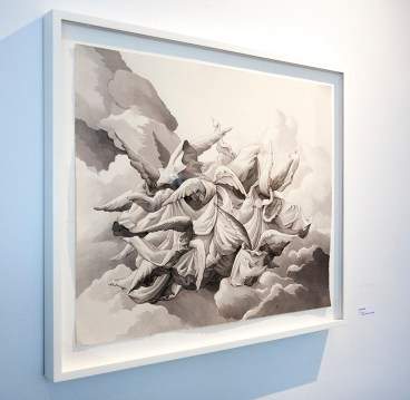 """Saul Chernik, """"Frenzy"""", ink and water on paper"""