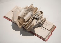 """Wayne Kleppe, """"Danielle 2"""", altered book: cut, formed and folded"""