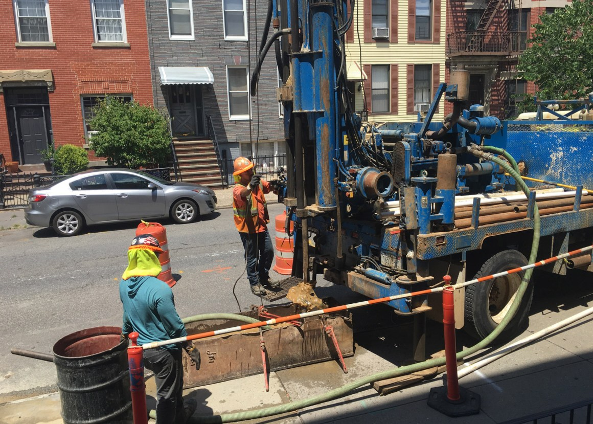 Geotechnical investigation for Greenpoint bioswales using sidewalk drill soil borings