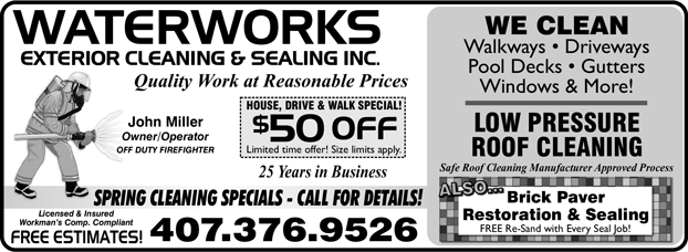 Waterworks Exterior Cleaning & Sealing