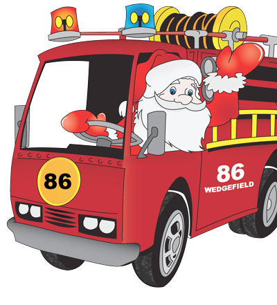 Santa with Fire Truck