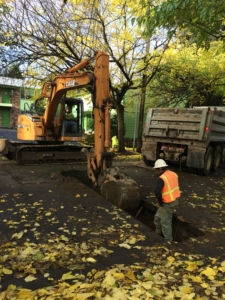Excavating for a Sewer Service Lateral