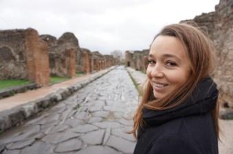 The empty streets of Pompeii