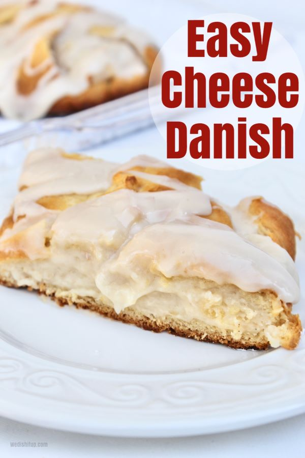 Slice of Cheese Danish On Plate