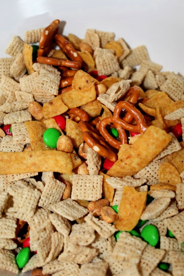 Chex Mix In Process
