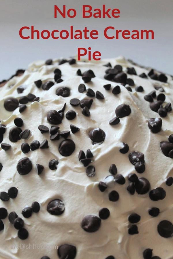 No Bake Chocolate Chip Pie