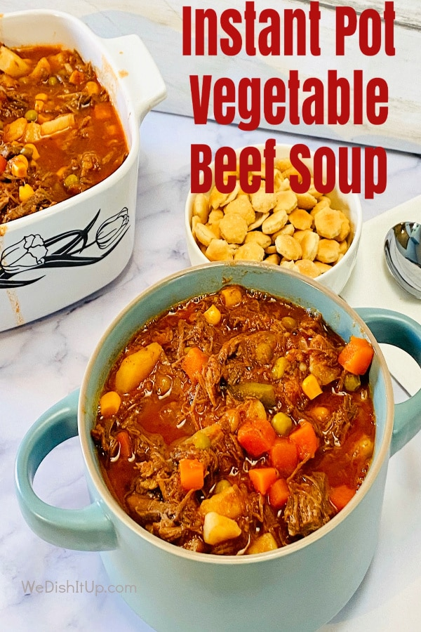 Vegetable Beef Soup With Crackers