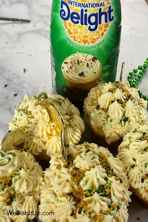 Lucky Cupcakes With Irish Cream Frosting