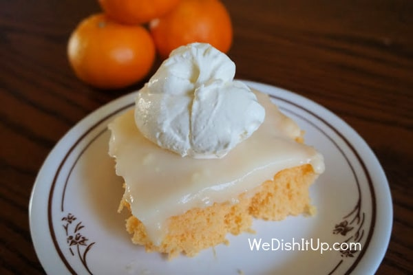 Orange Cream Poke Cake