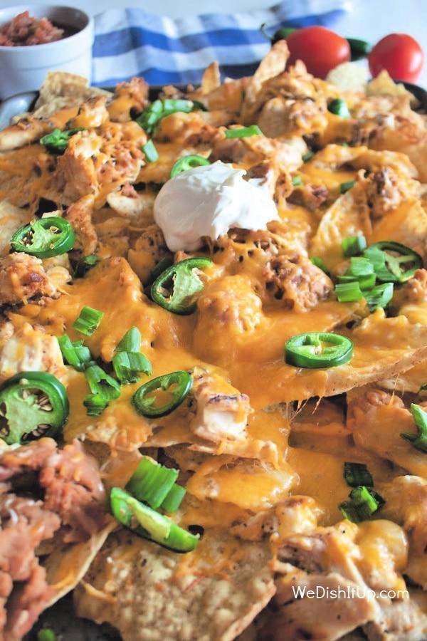 Sheet Pan Chicken Nachos