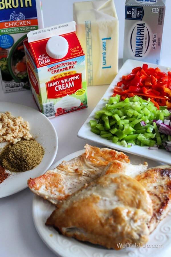 Chicken Fajita Pasta Ingredients