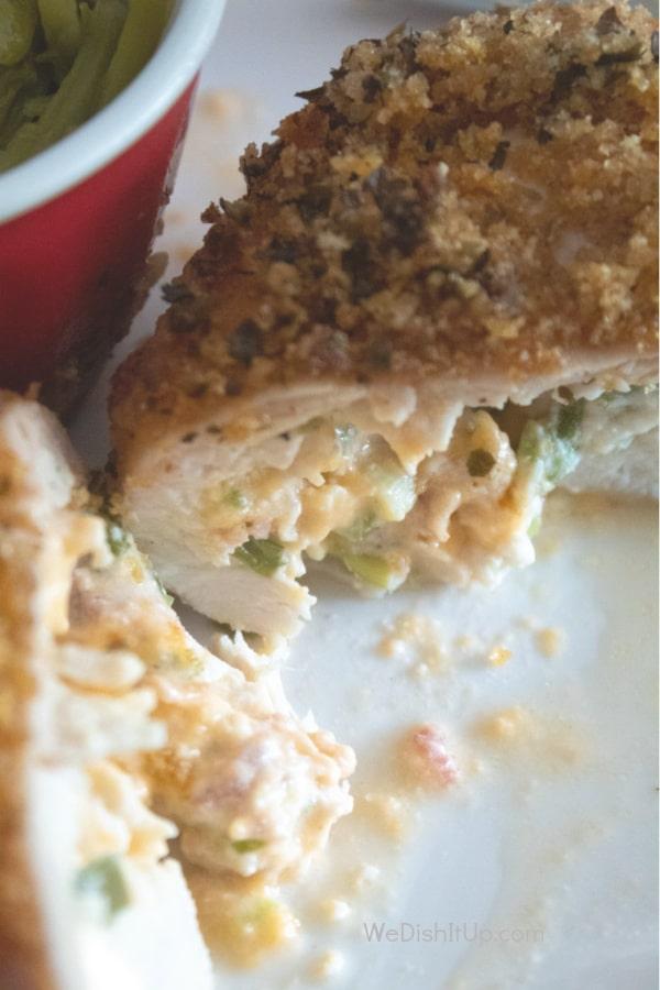 Jalapeno Chicken Cut Open