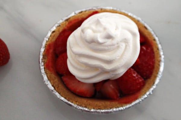 Strawberry Pie Ready to Serve