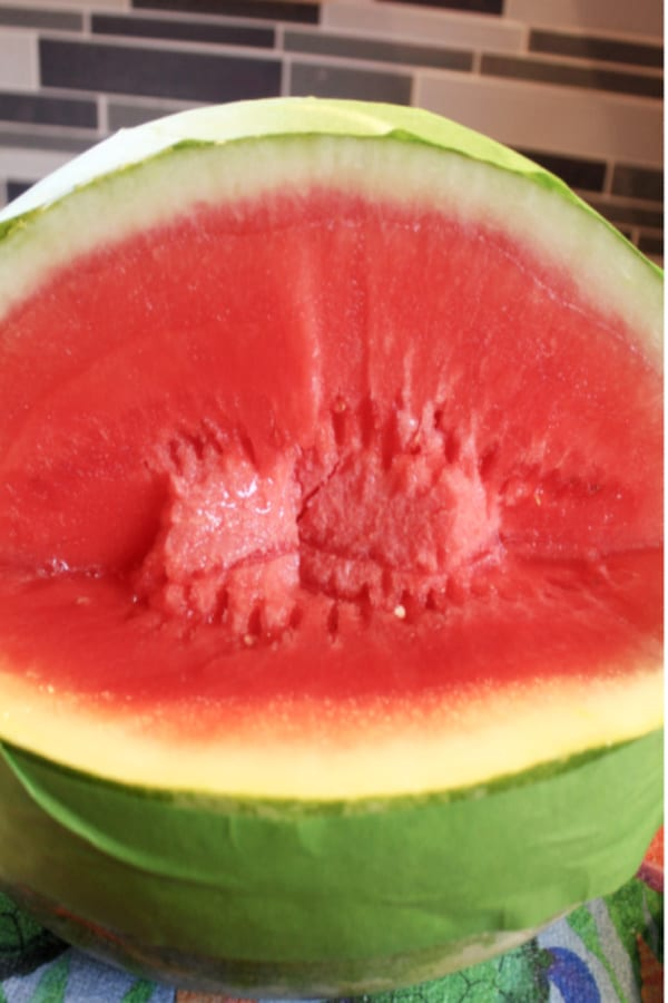 Watermelon with cut