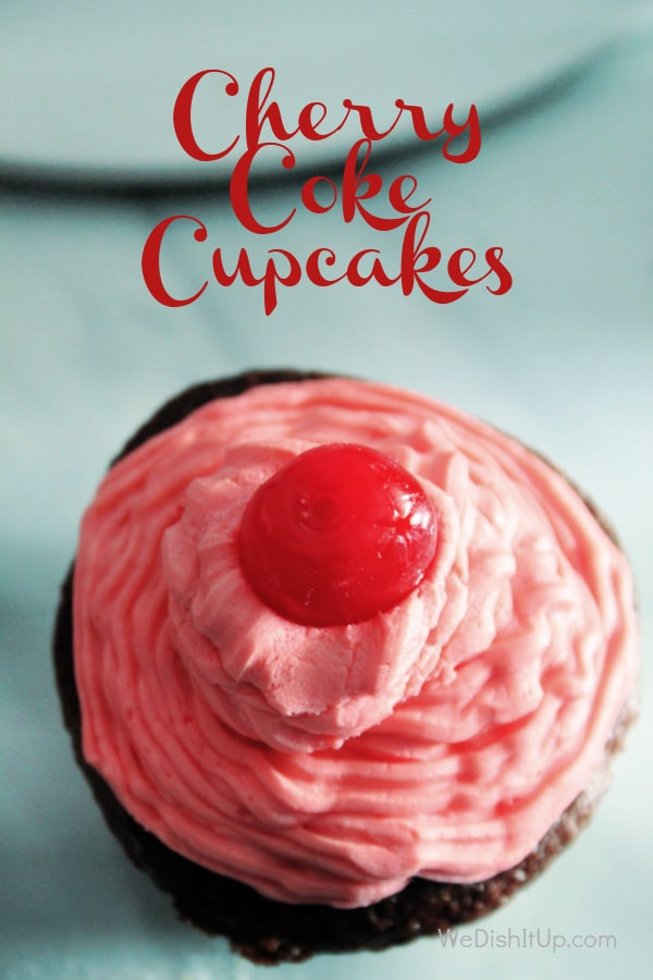 Single Cherry Coke Cupcake