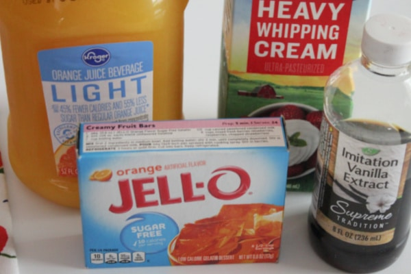 Ingredients for Creamsicles