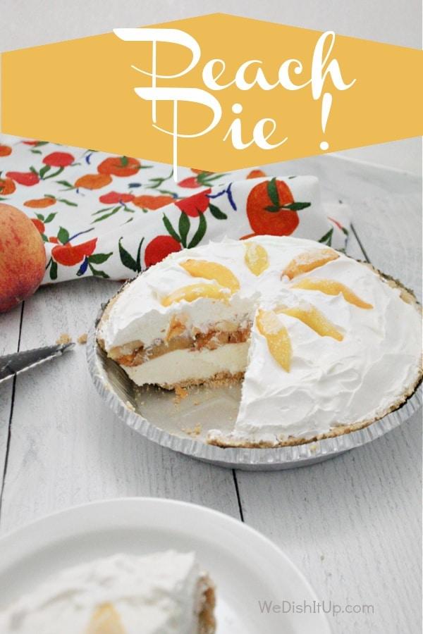 Easy No-Bake Peach Pie