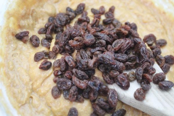 Raisins added to mix