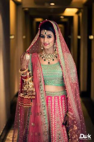 Indian Engagement Dress For South Indian And North Indian Bride