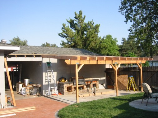 A new covered patio that doesn't shade the pool