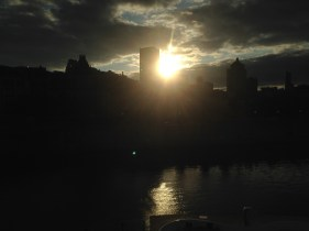 ...sunset over Montreal...