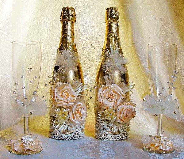 (+106 fotografii) Decor de sticle de nunta Fa-i singur