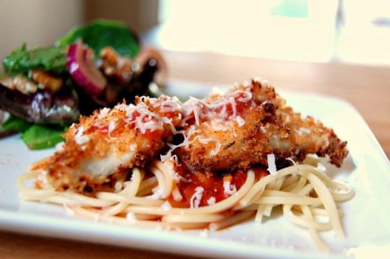 super easy chicken parmesan